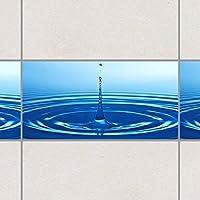 タイルボーダー - 波付きドロップ30cm x 60cm、セットサイズ:20個