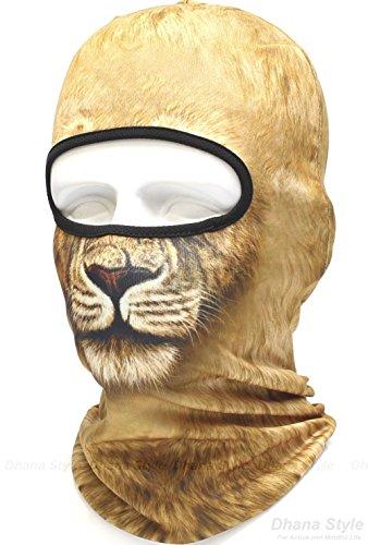 動物柄 フェイスマスク 3D アニマル マスク フルフェイスマスク バラクラバ 目出し帽 / サバイバルゲーム・自転車・バイク・アウトドア・コスプレ (ライオン)