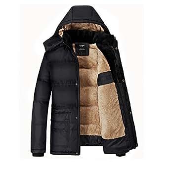 Forpend 2015 冬メンズ アウトドアウェア  防寒コート ウトドア ダウン風 コート  冬 ジャケットフード付 -XL