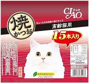 チャオ (CIAO) 焼かつお 高齢猫用 15本入り