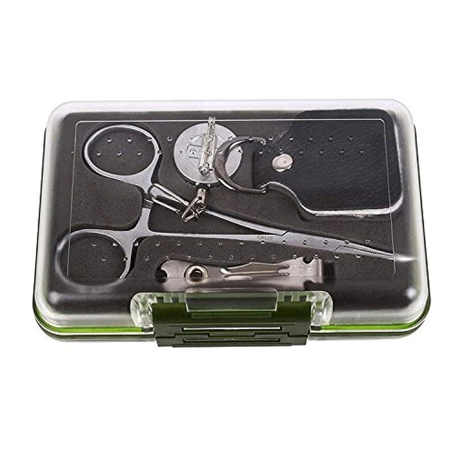 おとこ肥満亡命unifishingフライボックス/ツールキット、with 4 Pieces Essential Fly釣りツール
