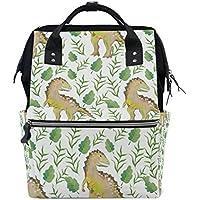 ママバッグ マザーズバッグ リュックサック ハンドバッグ 旅行用 恐竜柄 水彩絵 ファション