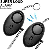 Safesound Personal Alarm Emergency Alarm Devices 2 Pack Personal Alarm for Kids, Women, Elderly, with Led Light, Keychain, Personal Safety and Self-Defense Alarms with Clip