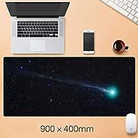 ゲーミングマウスマット、拡張マウスパッド滑り止めラバーベースの防水超特大キーボードマット、ラップトップ、デスク用のほつれ防止ステッチエッジ happyL (Color : B, Size : 900mm×400mm-4mm)