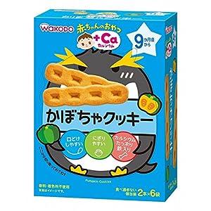 和光堂 赤ちゃんのおやつ+Ca カルシウムかぼちゃクッキー 2本×6袋