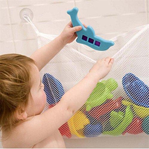 HKUN オモチャ収納袋 お風呂ハンモク 多用途 子供玩具 片付けネット 壁掛け式 テトロン製 フック付き