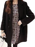 Spargel ハーフ丈 が ちょうど良い チェスター コート レディース S M L XL 2XL ブラック ワインレッド ベージュ ディープグリーン アウター ジャケット 秋冬 大きいサイズ カジュアル おしゃれ こなれ感 かわいい 黒 人気