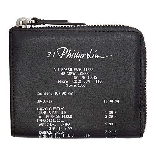 (スリーワン フィリップ リム) 3.1 Phillip Lim メンズ 財布 Black Mini Receipt Zip Around Wallet [並行輸入品]