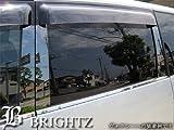 BRIGHTZ 【BRIGHTZ スカイライン R34 4ドア 超鏡面ブラックメッキピラーパネルカバー 8PC バイザー無し用】 5094
