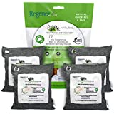RegenerAir 4 x 500g Air Purifier Filter Bags 100% Activated Bamboo Charcoal Deodorizer Odor Eliminator for Kitchens Bedrooms Bathrooms Cars Basements Pet Areas & Shoes