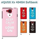 AQUOS Xx 404SH (個性派07) C [C016601_03] Keep Calm 格言 イギリス LOVE ON アクオス スマホ ケース softbank