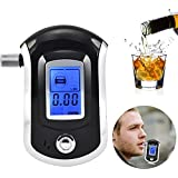 Portable Digital Alcohol Breathalyser Breath Tester Breathtester With Blue LED Screen