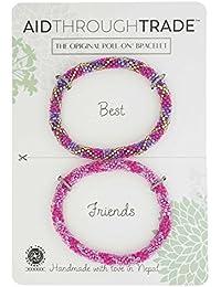 roll-on Friendship Bracelets – Fuchsia Fusion – Aid Through Trade