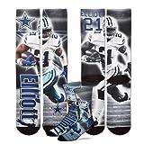 Dallas Cowboys Youth Size NFL Drive Kids Socks (4-8 YRS) 1 Pair - Ezekiel Elliott #21 [並行輸入品]