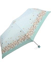 OLVEdesOLIVE(オリーブデオリーブ/オリーブ?デ?オリーブ) 55cm レディース アンブレラ 折りたたみ傘 雨傘  (花柄) (サックス)