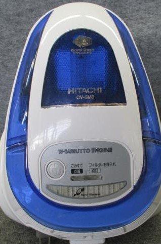 HITACHI ごみダッシュサイクロン サイクロン式(紙パック不要)/ACタイプクリーナー ブルー CV-SM8-A