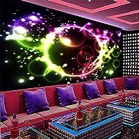 Weaeo カスタム3D壁紙パーソナライズされた壁紙の美しさのテーマ紫色の背景の壁紙Ktvバーコーヒーショップの壁紙-450X300Cm