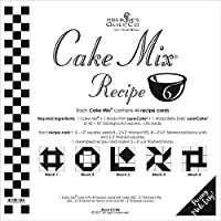 Moda Cake Mix Recipe 6 44 recipe cards will make 352 5.1cm Fin.HST, 352 Rail Fence Units