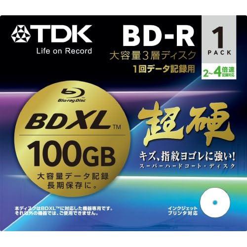 TDK データ用 ブルーレイディスク(BD-R XL) 3層100GB 2-4倍速対応 BRD100HCPWB1A