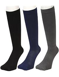 THE ANSWER 高品質 メンズ レディース 靴下 ビジネス 着圧 スポーツ ハイソックス