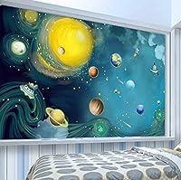Wkxzz カスタム写真壁紙漫画手描きの宇宙子供部屋の寝室の装飾壁画-280X200Cm