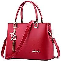 OVERMAL Women Leather Crossbody Bag Shoulder Bag Messenger Bag Hangbag