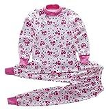 (ビーエムキッズ) BMKIDS 綿100% 子供 パジャマ ぐっすり眠れる もちはだ さらさら 素材 ルームウェア ねまき 長袖 上下 セット 男の子 女の子 キッズ ベビー 幼児 用 (ピンク うさぎ 100-110㎝ 4-5歳)