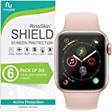 [6-Pack] RinoGear Apple Watch Screen Protector 40mm [6-Pack] (Series 4) [Advanced Install: Full Coverage] Flexible Screen Protector Apple Watch 40mm HD Crystal Clear Anti-Bubble Film