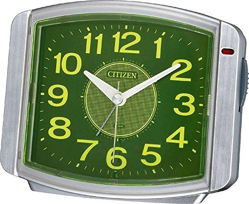 CITIZEN ( シチズン ) 目覚まし 時計 サイレントミグ644 暗所 自動 点灯 シルバー メタリック色 8RE644-019