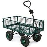 Yaheetech 800lbs Heavy Duty Garden Wagon Folding Utility Cart Yard Lawn Farm Industrial Removable Sides Trolley Wagon