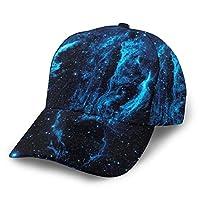 ループ星雲紫外線銀河 野球帽、快適で通気性の調節可能なサイズの女性用メンズ野球帽に沿って湾曲したトレンディなプリント
