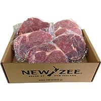 NEWZEE ビーフリブアイポーションカットステーキ ニュージーランド 5 x 200g ステーキ(1kg) Beef Ribeye ニュージーランド産プレミアム品質牧草牛【冷凍】 - NEWZEE Beef Ribeye Portion Cut Steak from New Zealand - 5 x 200g Steaks (1kg) [100% GRASS FED] [FROZEN]