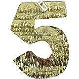 大きな数5つPinataゴールドカラー