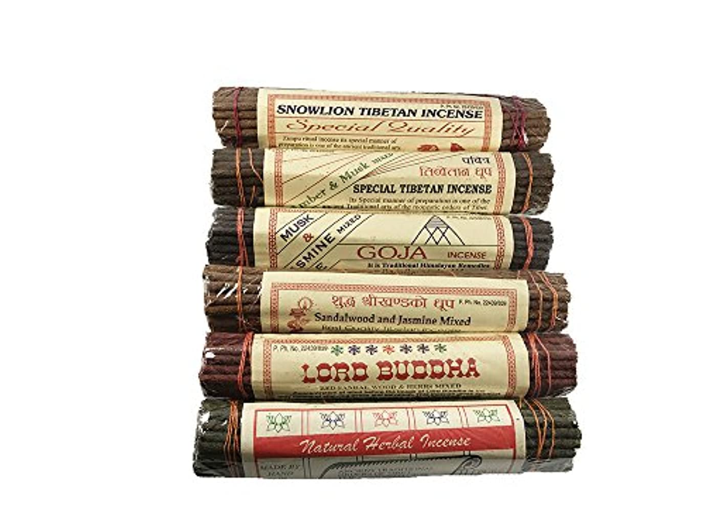 ヶ月目検査官下着チャンドラDeviチベットIncense Sticks組み合わせパック – Incenseからチベット( 6パック)