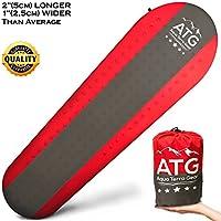 aquaterragear Perfect Sleeping Pad Self Inflatingキャンプハイキングトレッキングマット。Bestコンボの軽量、Great断熱材( Foam + Air)、快適性と耐久性