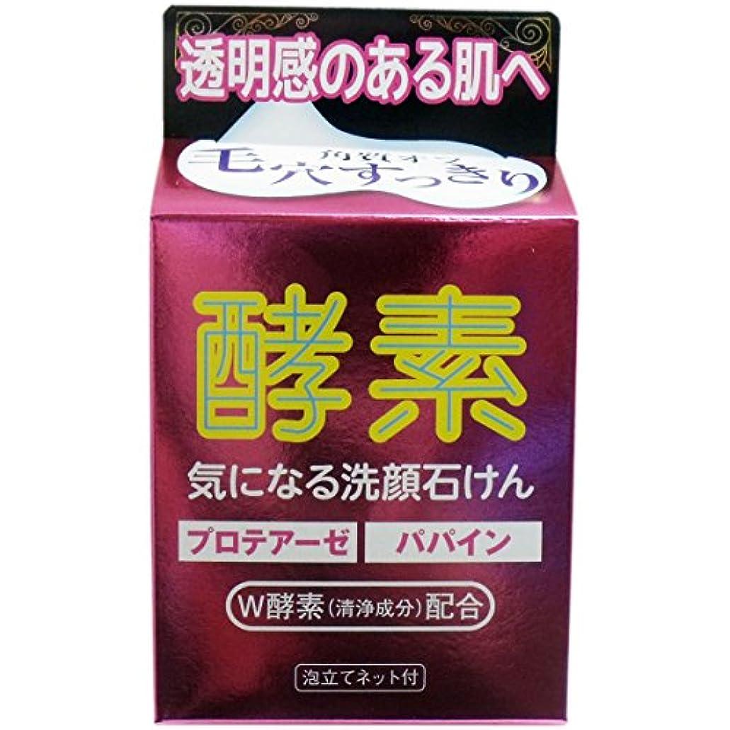 ブレーク弱まるアジア人(マックス)気になる洗顔石けん 酵素 80g 泡立てネット付