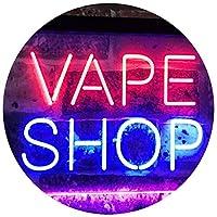 Vape Shop Indoor Display Dual LED看板 ネオンプレート サイン 標識 Blue & Red 300 x 210 mm st6s32-i3018-br
