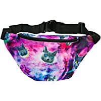 Funny Guy Mugs Premium Galaxy Space Cat Fanny Packs (Multiple Styles Available)