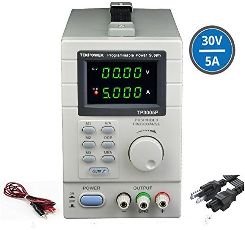 早熟謙虚な遠征Tekpower TP3005P Programmable Linear Type Variable Regulated DC Power Supply 0-30V at 0-5A [並行輸入品]