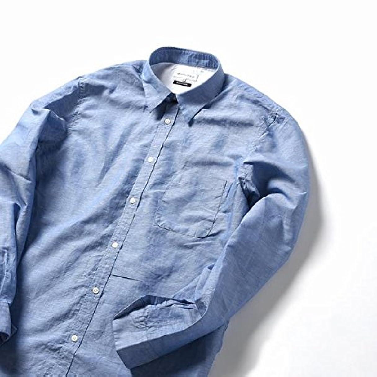 想定賞賛ピービッシュシップス ジェットブルー(SHIPS JET BLUE) SHIPS JET BLUE: コットン×リネン レギュラーカラーシャツ