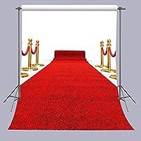 fuermor写真背景5x 7ftレッドカーペット用写真背景ウェディングパーティー小道具a071