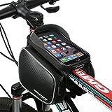 MOREZONE 自転車 スマホホルダー タッチバッグ スマートフォンアクセサリー サイクリング大容量収納フレームバッグ 6.0インチ iphone 6S plus?応