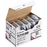 キングジム テープカートリッジ テプラPRO 12mm 5個 ロングタイプ白 SS12KL-5P
