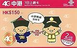 中港7日 データ通信 2GB 中国本土31 香港 7日間 2GB SMS不可、通話不可、DATA専用SIM デザリング 可能 4G
