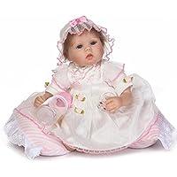 scdoll、リアルなプリンセスRebornベビー人形Lifelike Vinyl新生児幼児人形withホワイトドレスGirls Play Toy 16インチ40 cm