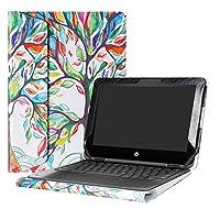 alapmk保護ケースカバーfor 11.6インチHP Chromebook x36011g1EE & Chromebook 11x 36011-aexxx/HP Stream x3601111-aa0X X/HP x36011-ab0X X Seriesノートパソコン ホワイト HP Chromebook x360 11 G1 EE
