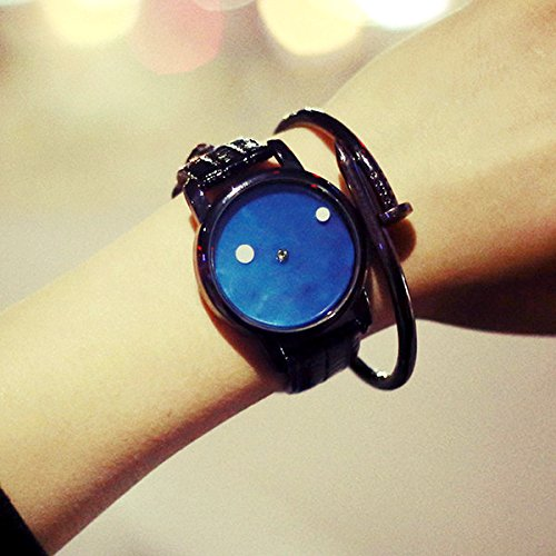 ZooooM ユニーク シンプル デザイン 文字盤 アナログ ウォッチ 腕 時計...