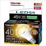 東芝 LED電球 ミニクリプトン形 440lm (電球色相当) TOSHIBA LDA4L-G-E17/S/40W