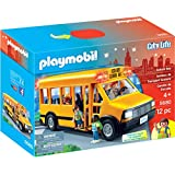 PLAYMOBIL School Bus Vehicle Playset, 12 Pieces