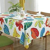 テーブルクロス、新しいキャンバスの庭シンプルな高級ファブリックテーブルクロスコーヒーテーブルクロスビッグサイズ、140 * 220 (色 : A, サイズ : 110 * 170)